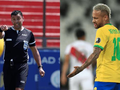"""Neymar criticó duramente a Tobar: """"No puede arbitrar una semifinal, es arrogante"""""""