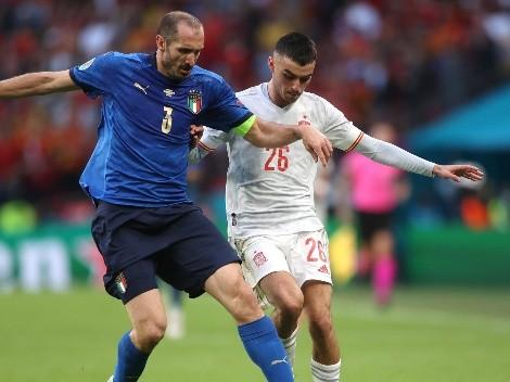 Itália x Espanha fazem um primeiro tempo bem truncado e com superioridade espanhola
