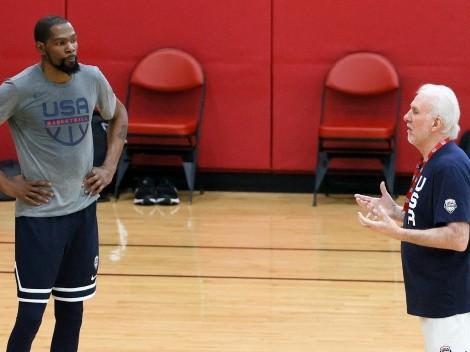 Gregg Popovich le hubiera rogado a Durant para llevarlo a Tokio