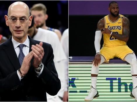 Comisionado de NBA le responde a LeBron James por lesiones de estrellas en Playoffs
