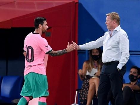 No se puso nervioso: Ronald Koeman habló del futuro de Lionel Messi