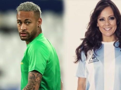 Neymar le respondió a la periodista brasileña que apoya a Argentina y a Messi