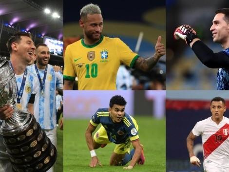 El 11 ideal de la Copa América 2021