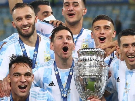 """Messi subió una foto con un compañero: """"Felicitaciones bestia, sos crack"""""""