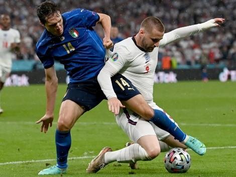 Itália x Inglaterra: assista ao gol de Luke Shaw no primeiro tempo da final da Eurocopa