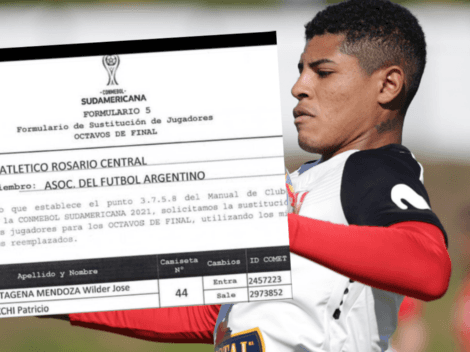 Ya es canalla: Wilder Cartagena inscrito por Rosario Central como futbolista de su plantilla