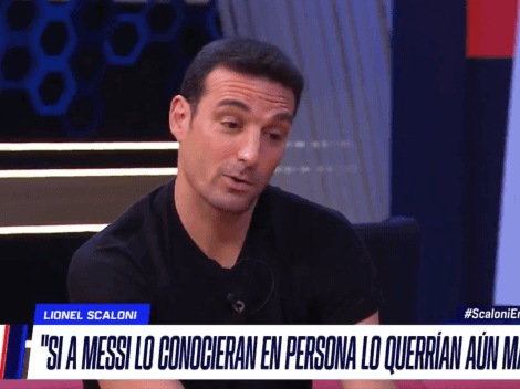 """Scaloni: """"Si a Messi lo conocieran en persona lo querrían aún más"""""""