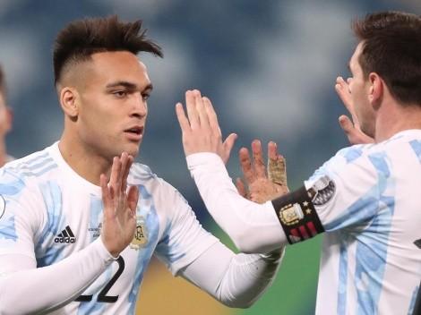 Lautaro Martínez publica emotiva dedicatoria para Lionel Messi tras ganar Copa América