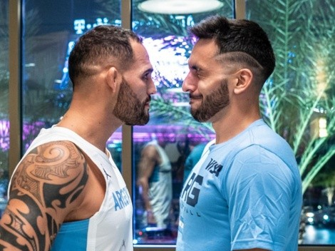 El plantel argentino de básquet estuvo cara a cara con un luchador de UFC