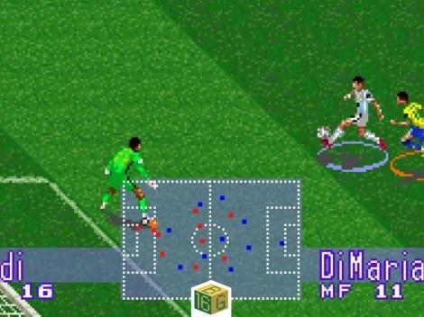 Recrean en 16 Bits el gol de Di María ante Brasil en la Copa América
