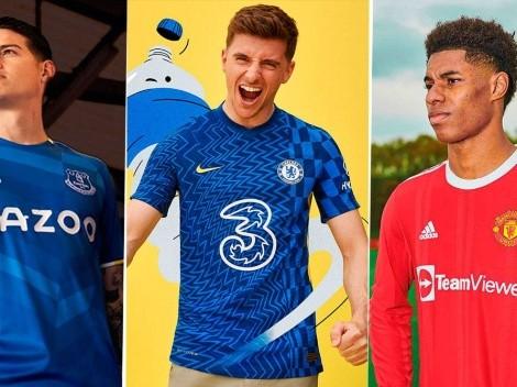 Premier League: estas son las nuevas camisetas de todos los equipos para la temporada 2021/2022