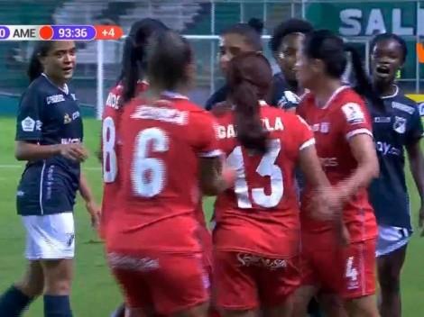 Final caliente en el clásico femenino entre Deportivo Cali y América