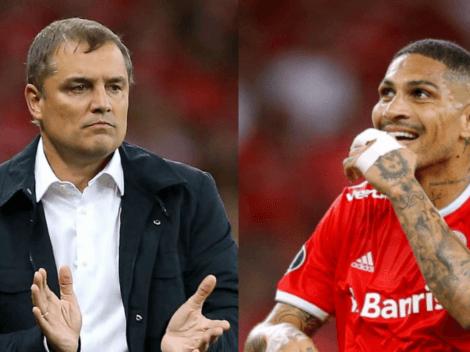 """Diego Aguirre, DT Inter de Porto Alegre: """"Paolo Guerrero es extraordinario. Un definidor increíble"""""""