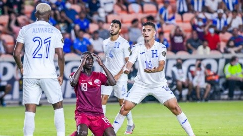 Qatar defeated Honduras and won Group D of the 2021 Gold Cup. (Twitter @GoldCup)