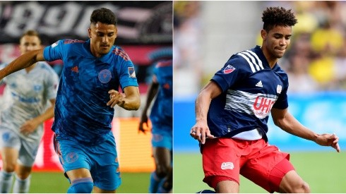 Ian Fray of Inter Miami (left) and Brandon Bye of New England Revolution (Getty).