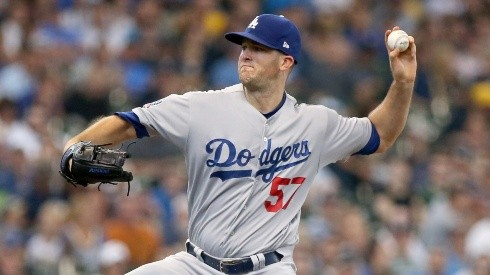 Alex Wood #57 of the Los Angeles Dodgers (Getty)