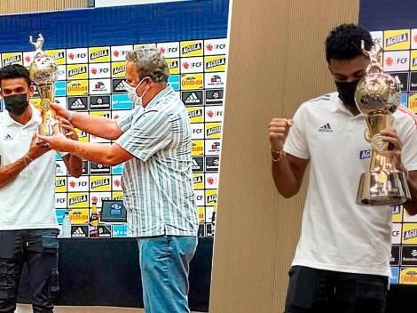 A compartir, Messi: Luis Díaz recibió el trofeo de Goleador de la Copa América