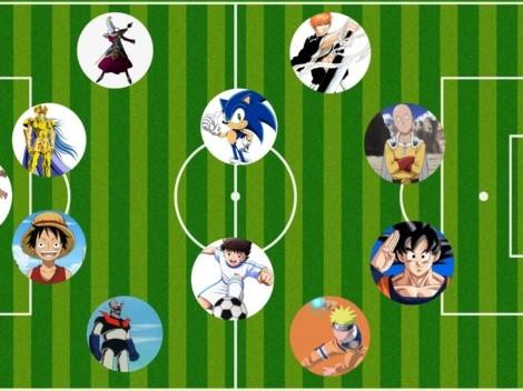 Oliver Atom, Naruto, Goku, Sonic: ¿cómo sería un once ideal del anime y el manga?