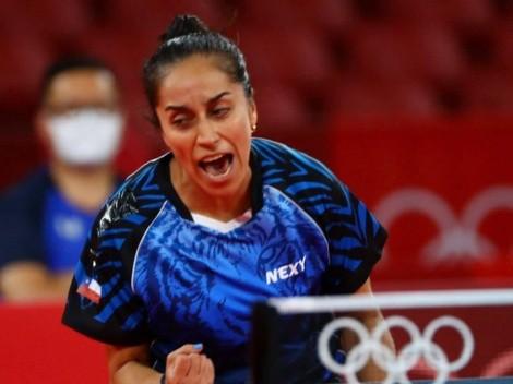 Paulina Vega debuta con un triunfazo en el Tenis de Mesa olímpico