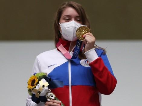 ¡Ganó una medalla de oro en Tokio 2020 con un amuleto de The Witcher puesto!