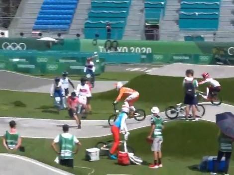 ¡Arrollaron a un árbitro en la práctica de BMX!