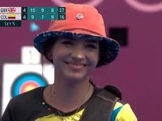 Tierna reacción de Valentina para sacarse los nervios en los Olímpicos
