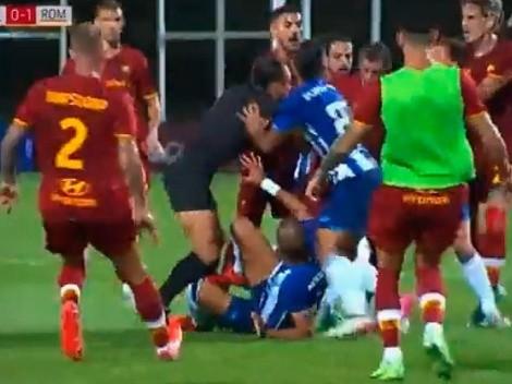 Pepe no olvida su esencia, le entró fuerte a Mkhitaryan y casi hay batalla en un amistoso