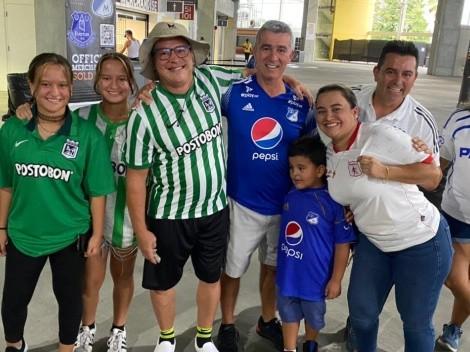 Color en las tribunas: hinchas de Millos y Nacional adornan Orlando con fútbol