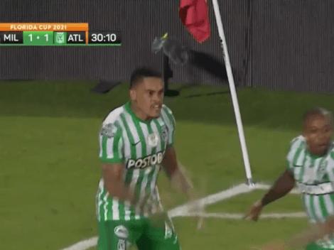 Aparece Jonathan Alvez: doblete a Millonarios para ganarse a la hinchada de Nacional