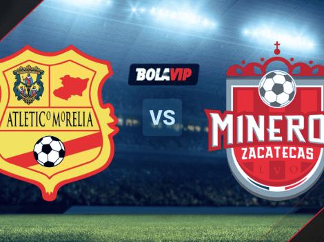 Qué canal transmite Atlético Morelia vs. Mineros de Zacatecas por la Liga BBVA Expansión MX
