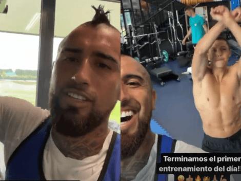 Vidal comparte los pasos prohibidos de Alexis en el Inter de Milán