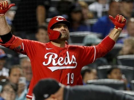 La racha de Joey Votto que lo acerca a un récord histórico de MLB