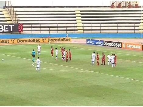 Intratable teledirigido de zurda de Felipe Rodríguez para el 1-1 entre Mannucci y Universitario