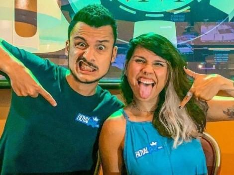 """EXCLUSIVO! Casal Fernanda Lopes e Mario Júnior estão em Vegas: """"Torço para que venha o máximo possível de brasileiros"""""""