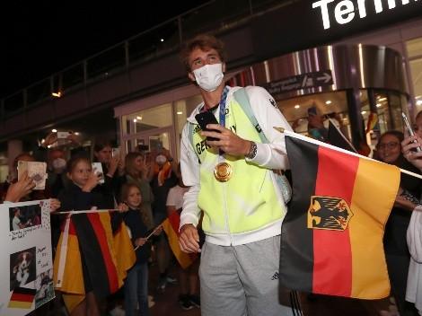 """Gran recibimiento para Alexander Zverev: """"La medalla de oro no es para mí, sino para Alemania"""""""