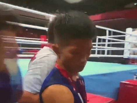 """Video: japonés que le """"ganó"""" a Yuberjen no se podía ni sostener saliendo del ring"""