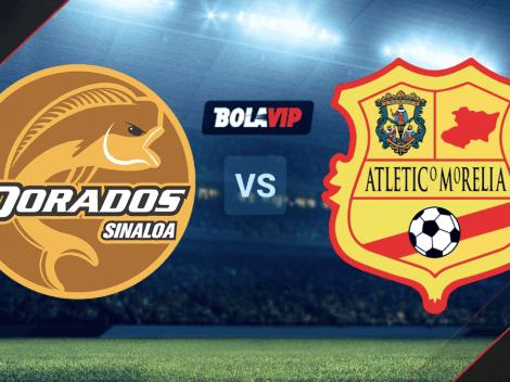 Qué canal transmite Dorados de Sinaloa vs. Atlético Morelia por la Liga BBVA Expansión MX