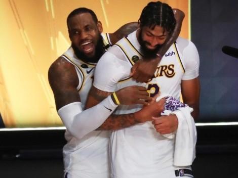 Con LeBron y Davis a la cabeza: el quinteto ideal de los Lakers para NBA 2021-22