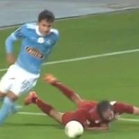 """""""Lora jubiló a Guarderas"""": volante de la U fue tendencia por jugada del lateral celeste"""