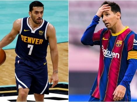 """Denver Nuggets """"le pide"""" a Facundo Campazzo que convenza a Lionel Messi"""