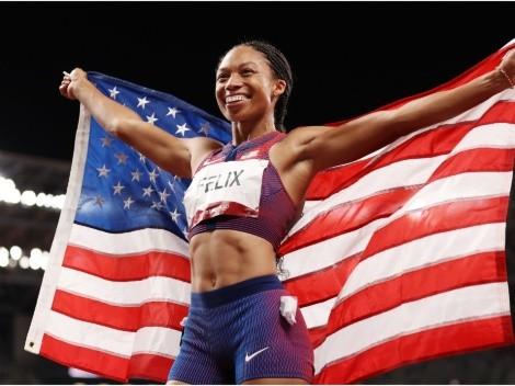 Allyson Felix hace historia al obtener el bronce en los 400 metros femenino
