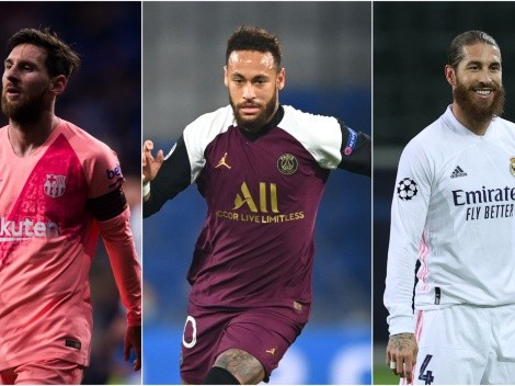 PSG lineup with Lionel Messi: Neymar, Mbappe, Sergio Ramos in a superteam