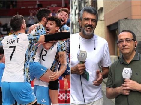 Momento emotivo: El festejo de Montesano y Conte tras el bronce argentino