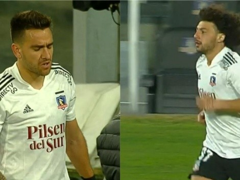 Zaldivia tiene que salir por lesión y es reemplazado por Falcón