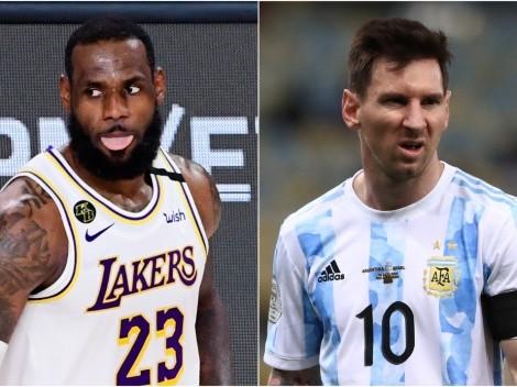 Borraron a Messi: LeBron se olvidó de nombrarlo entre futbolistas preferidos