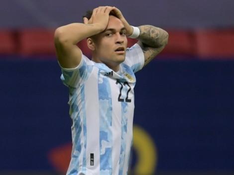 Lautaro Martínez se lesionó y es duda para las Eliminatorias