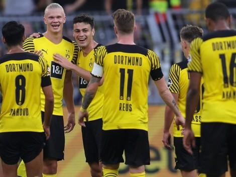 Borussia Dortmund vence de goleada o Eintracht Frankfurt
