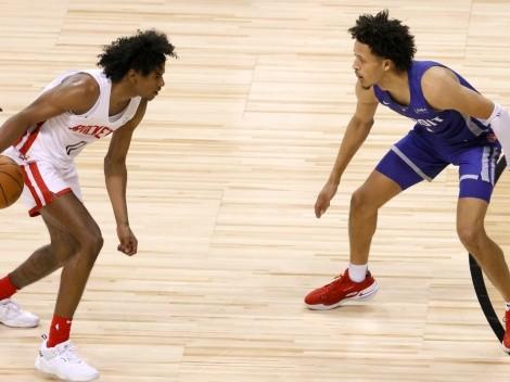 Jalen Green, pick 2 del Draft de la NBA, le pega a los Detroit Pistons