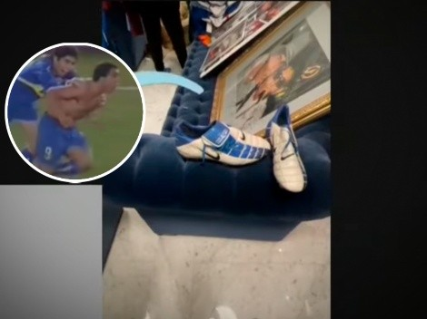 Tevez recordó el gol de la gallinita y contó la historia de los botines