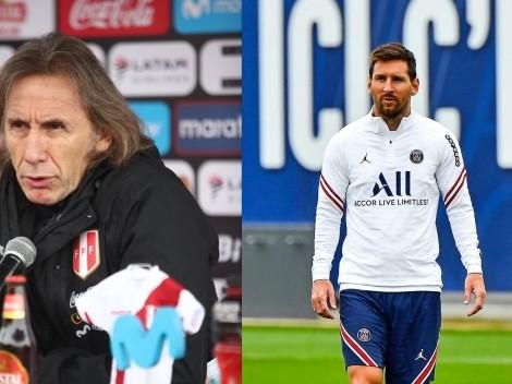 No le gustó: la opinión de Ricardo Gareca sobre la partida de Lionel Messi al PSG